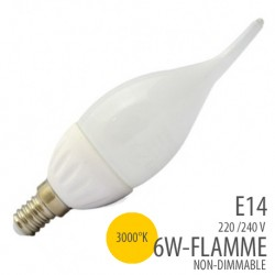 Ampoule led -Flamme - E14- 6W - 3000°K