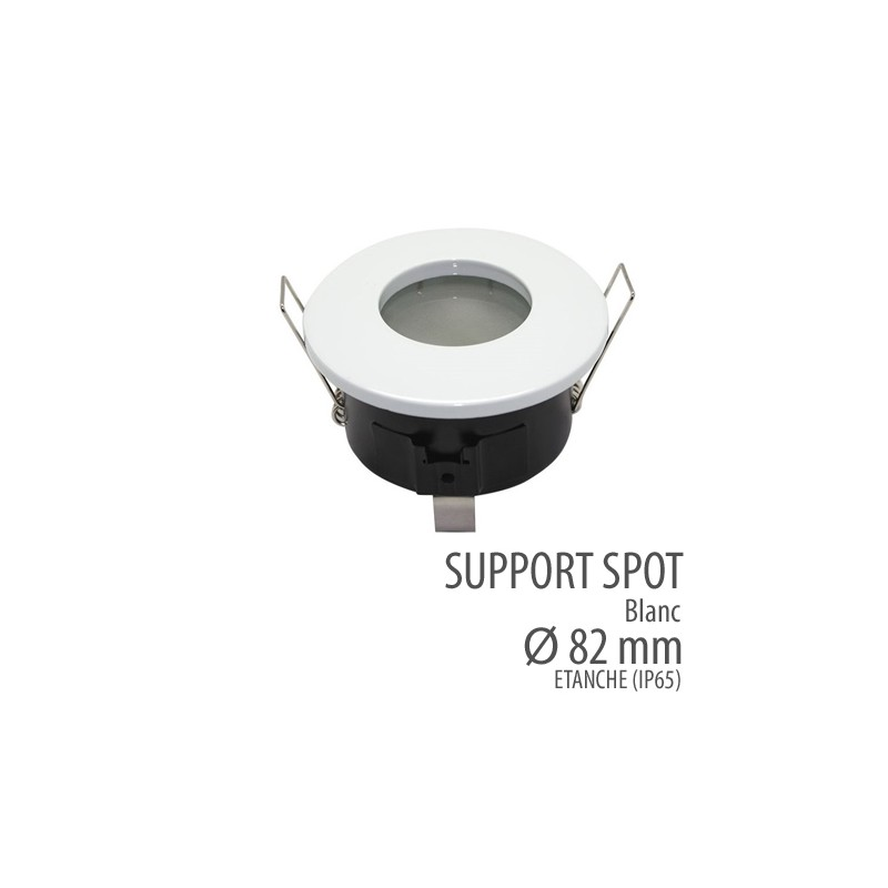 Support de spot led tanche ip65 blanc s curit protection habitat - Spot salle de bain etanche ip65 ...