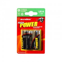 Pack de 2 piles LR14  1.5V SUPER ALCALINE PRO HIGH POWER