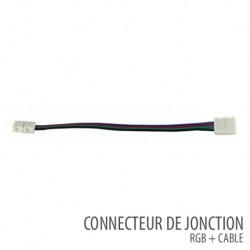 Connecteur de jonction RGB + cable bande led 12 Volts