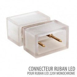 Connecteur ruban led SMD 5050 Monochrome 220V/AC