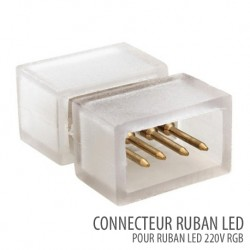 Connecteur ruban led SMD 5050 RGB 220V/AC