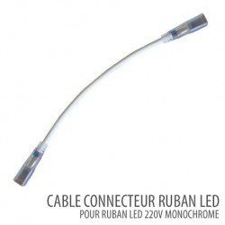 Câble connecteur ruban led -SMD 5050 Monochrome 220V/AC