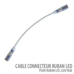 Câble connecteur ruban led SMD 5050 RGB 220V /AC