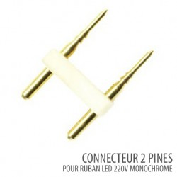 Connecteur 2 pines-ruban led monochrome 220V/AC SMD 5050