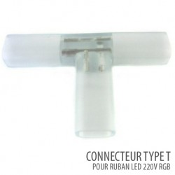 Connecteur type T ruban led 220V/AC RGB -SMD5050