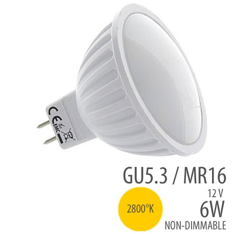 Ampoule  LED - MR16-6W, couleur 2800°K