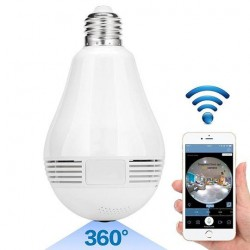 Ampoule panoramique 360° WIFI 2MP