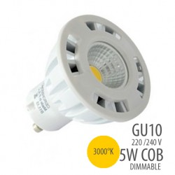 Ampoule LED COB-GU10-5W- dimmable-3000°K