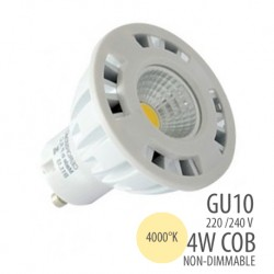 LED COB-GU10-4W-non dimmable, couleur 4000°K
