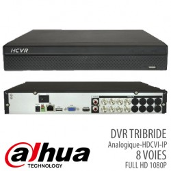 DVR DAHUA TRIBRIDE 8 VOIES FULL HD 1080P (Analogique,HD-CVI,IP)