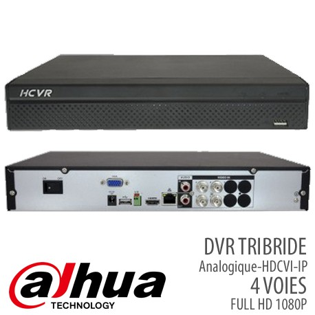 DVR TRIBRIDE 4 VOIES FULL HD 1080P (Analogique,HD-CVI,IP)